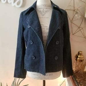 New York and Co Jean peacoat Jacket (Med)